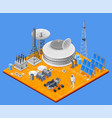 space station isometric concept vector image vector image
