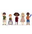 special needs children children with disabilities vector image