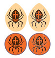 spider icon isolated sign symbol and flat style vector image vector image