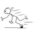 stickman cartoon of man falling stumble trip over vector image vector image