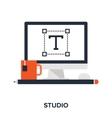studio flat concept vector image vector image
