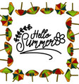 summer frame text template background vector image vector image
