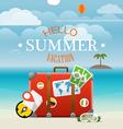 Summer seaside vacation travel vector image vector image