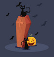 sweet happy halloween day vector image