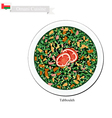 Tabbouleh or Omani Tomatoes and Parsley Salad vector image vector image