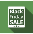 Tablet PC with Black Friday Sale text on screen vector image