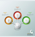 three circles with thin line pictograms placed in vector image vector image
