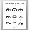 transportation icons line pack vector image vector image