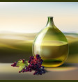 vintage round bottle vector image vector image