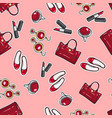 wallpaper earing ring sack shoes lipstick vector image vector image