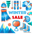 winter sale banner for sale text for year vector image vector image
