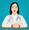 woman doctor image vector image