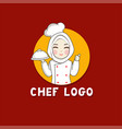 woman muslim chef vector image
