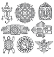 Ancient mexican mythology symbols american vector image