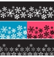 snowflake banners vector image