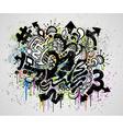 grunge graffiti design vector image