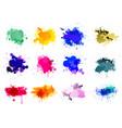 colorful paint splatters vector image