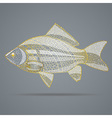 Abstract golden fish vector image