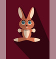 red bunny with long shadow vector image