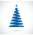 blue christmas tree vector image
