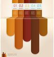 Brown color number options banner template vector image vector image