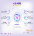 business creative concept infographic with 6 vector image