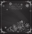 Chalk Christmas background vector image