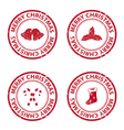 christmas rubber stamps vector image