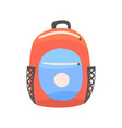 colorful backpack rucksack for school or travel vector image vector image