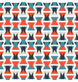colorful orange and blue geometric pattern vector image vector image