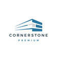 corner stone logo icon vector image vector image