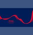 dark blue background with red wave design vector image