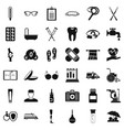 disabled person icons set simple style vector image vector image