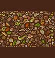 doodle cartoon set chocolate theme items vector image vector image