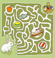 easter bunny maze game vector image
