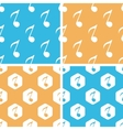Eighth note pattern set colored vector image