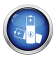 Electric battery icon vector image vector image