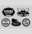 elegance barber shop and new year badges vector image