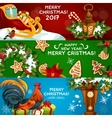 Festive Christmas and New Year banner set vector image vector image