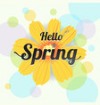 floral spring with yellow flower and colorful vector image vector image