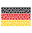 german flag pattern of fire flame icons vector image vector image