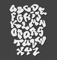 graffiti hand lettering alphabet font vector image vector image