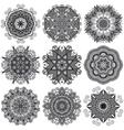 grey circle lace ornament round ornamental vector image vector image
