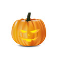 halloween pumpkin smile on white background vector image