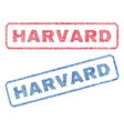 harvard textile stamps