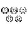 Heraldic laurel wreaths set vector image vector image