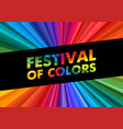 holi happy festival colors greeting colorful vector image