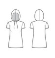 hoody dress technical fashion with vector image vector image
