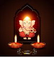 indian god ganesh vector image