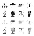 isolated object of education and learning icon vector image vector image